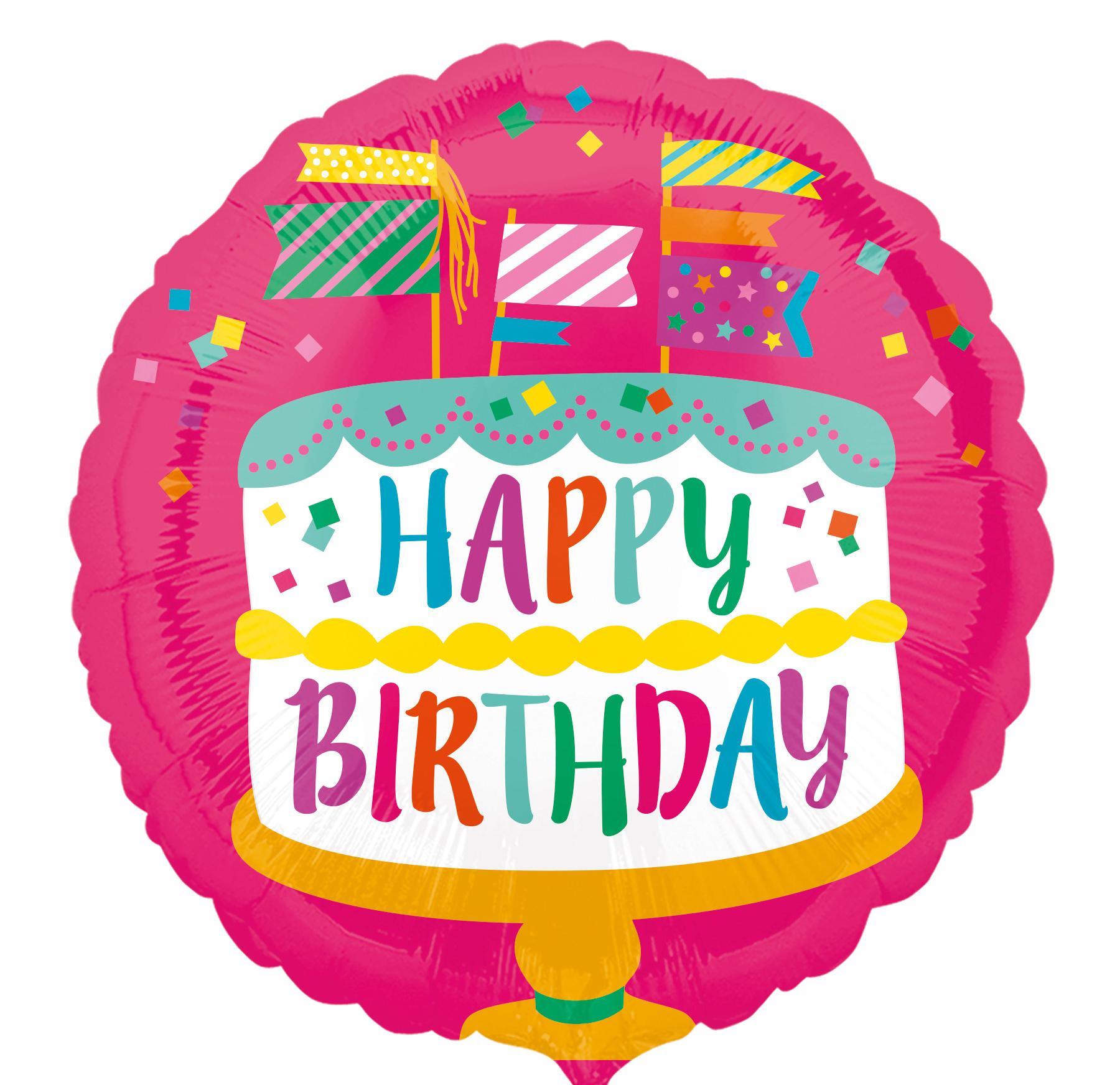 Happy Birthday Cake  Inch Anagram Foils Sempertex - Happy birthday 18 cake