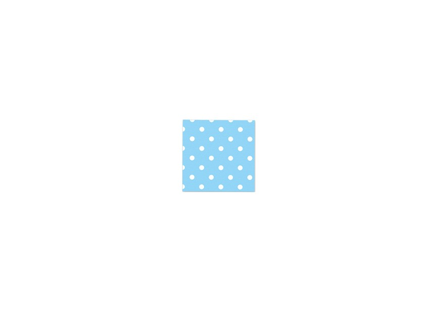 Napkin - Polka Dots - Light Blue - 16 Pcs